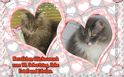 Estell und Edwina sind nun 10 Jahre alt